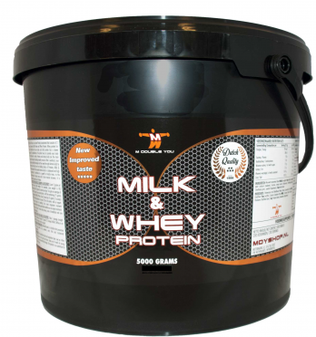 M Double You milk & whey protein chocolade 5000 gram