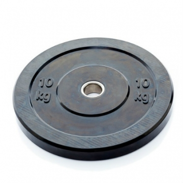 Muscle Power Bumper Plate 10 kg Ø 50 mm zwart MP807