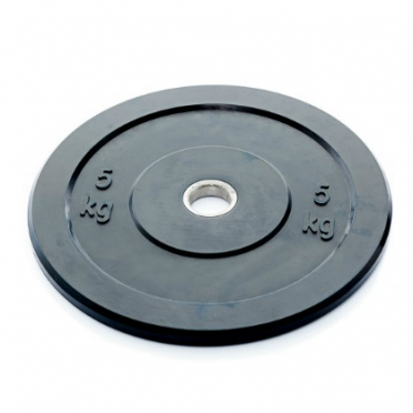 Muscle Power Bumper Plate 5 kg Ø 50 mm zwart MP807