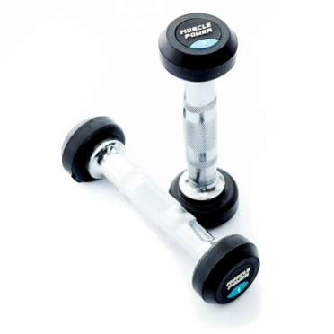 Muscle Power ronde Dumbbellset 2 - 30 KG MP919