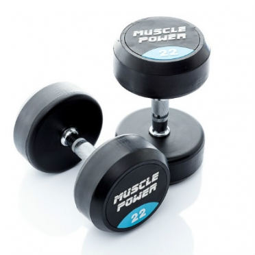 Muscle Power ronde Dumbbellset 22 - 30 KG MP917