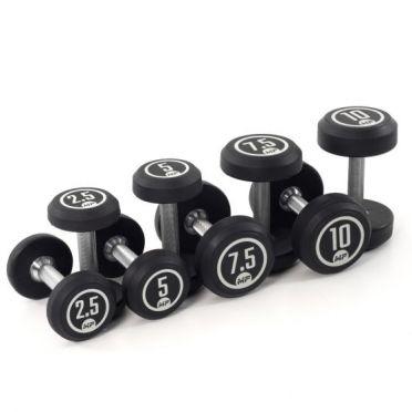 Muscle Power dumbbellset rond rubber 2,5 - 10 kg