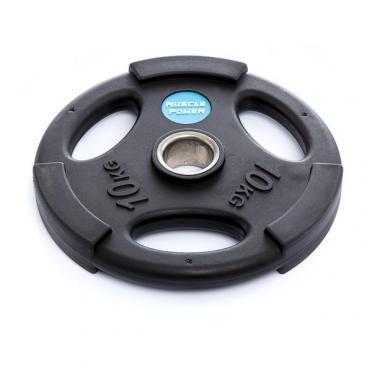 Muscle Power Olympische PU Halterschijf 10 kg Zwart MP806