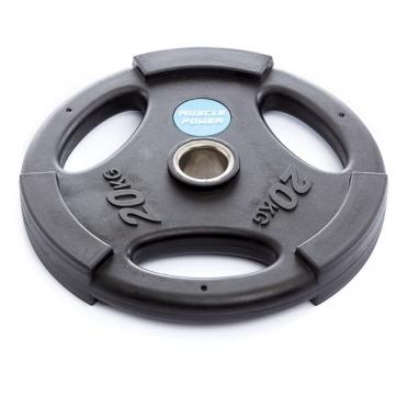 Muscle Power Olympische PU Halterschijf 20 kg Zwart MP806
