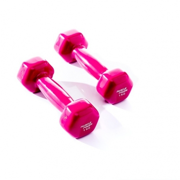 Muscle Power Vinyl Dumbbellset 2 x 1 KG Paars MP920