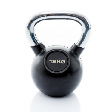 Muscle Power Kettlebell Rubber - Chrome 12 KG MP1301