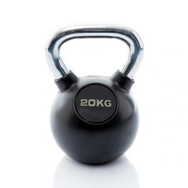 Muscle Power Kettlebell Rubber - Chrome 20 KG MP1301