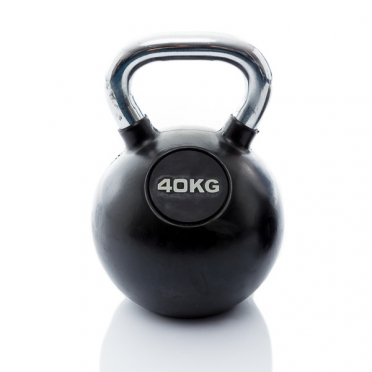 Muscle Power Kettlebell Rubber - Chrome 40 KG MP1301