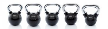Muscle Power Kettlebell-set Rubber/Chrome 4 - 20 kg