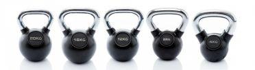 Muscle Power Kettlebell-set Rubber/Chrome 4 - 20 kg