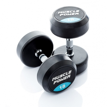Muscle Power Ronde Dumbbellset 18 KG MP914