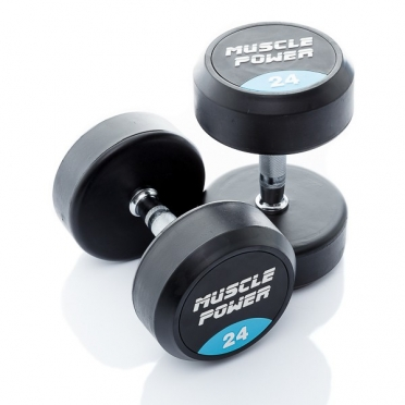 Muscle Power Ronde Dumbbellset 24 KG MP914