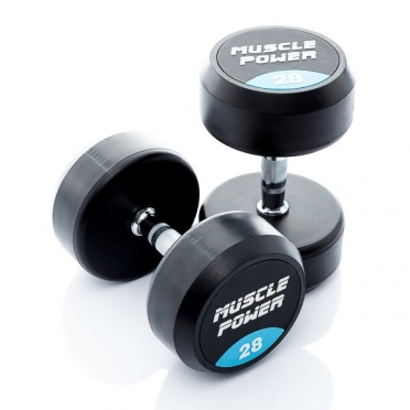 Muscle Power Ronde Dumbbellset 28 KG MP914