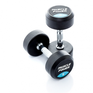 Muscle Power Ronde Dumbbellset 9 KG MP914