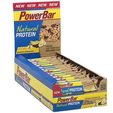 Powerbar Natural protein bar banaan chocolade 24 x 40 gram