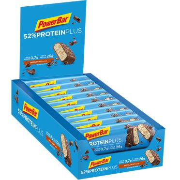 Powerbar Protein plus 52% bar chocolade noot 20 x 50 gram