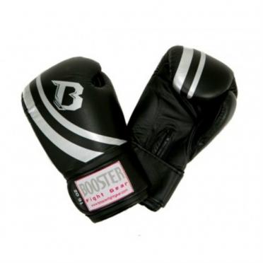 Booster Pro Range V2 leren bokshandschoenen zwart/zilver