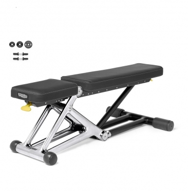 Technogym Bench Personal Chrome met 55 KG dumbbell set