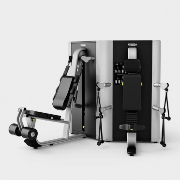 Technogym krachtstation Plurima Twin overhead press - leg extension