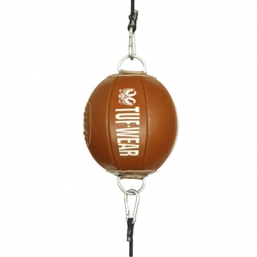 Tufwear reactie ball (double end ball) bruin leder classic