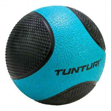 Tunturi Medicine ball 4 kg blauw/zwart