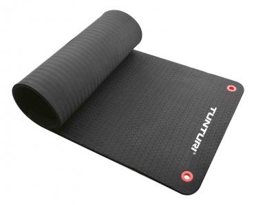 Tunturi Professionele fitnessmat zwart 140cm