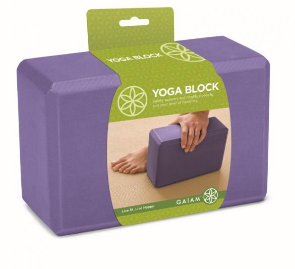 Gaiam Yogablok paars (G05-52214)  G05-52214