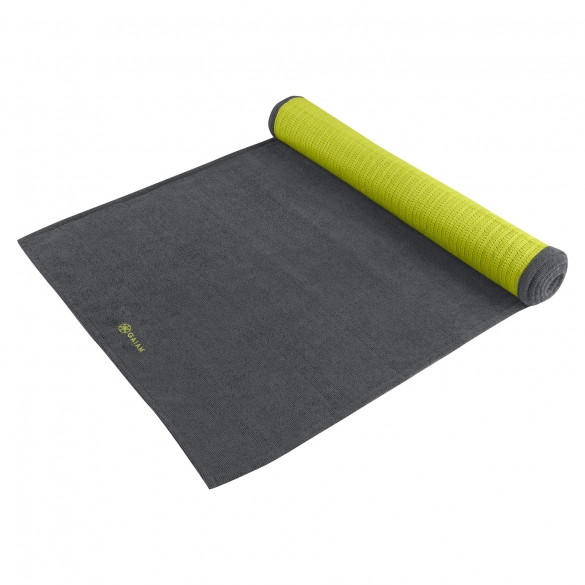Gaiam Grippy yoga handoek Citron/Storm  G05-61345