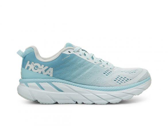 Hoka One One Clifton 6 hardloopschoenen blauw/grijs dames  1102873-ASWB