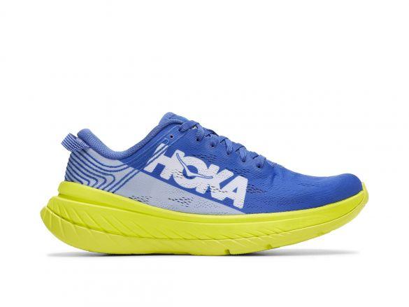 Hoka One One Carbon X hardloopschoenen blauw/geel heren  1102886-ABEP