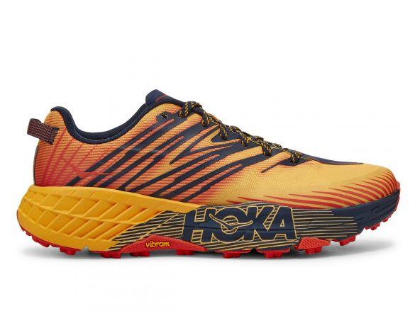 Hoka One One Speedgoat 4 trail hardloopschoenen oranje/geel heren  1106525-GFBI