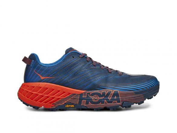 Hoka One One Speedgoat 4 trail hardloopschoenen blauw/oranje heren  1106525-MBMR
