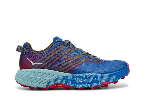Hoka One One Speedgoat 4 trail hardloopschoenen blauw/paars dames  1106527-IBPP
