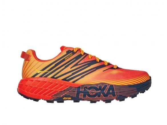 Hoka One One Speedgoat 4 GTX trail hardloopschoenen oranje heren  1106530-MRGF