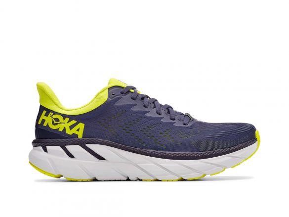 Hoka One One Clifton 7 hardloopschoenen blauw/geel heren  1110508-OGEP
