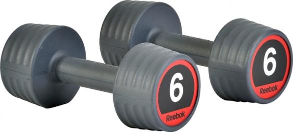 Reebok rubber dumbell 6.0 kg  7.207.146