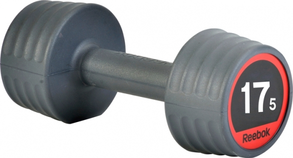 Reebok rubber dumbell 17.5 kg  7.207.153