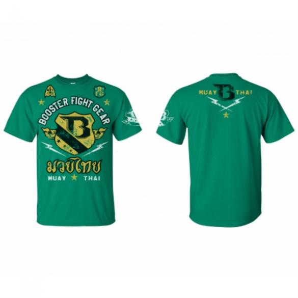 Booster Muay Thai T Shirt Groen Kopen Bestel Bij