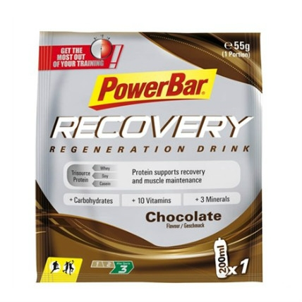 Powerbar drink recovery sachets 20 x 55 gram  PORECOVERYDR
