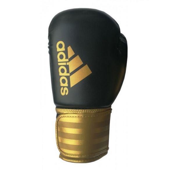 Adidas Hybrid 100 (kick)bokshandschoenen zwart/goud  ADIH100-90350VRR