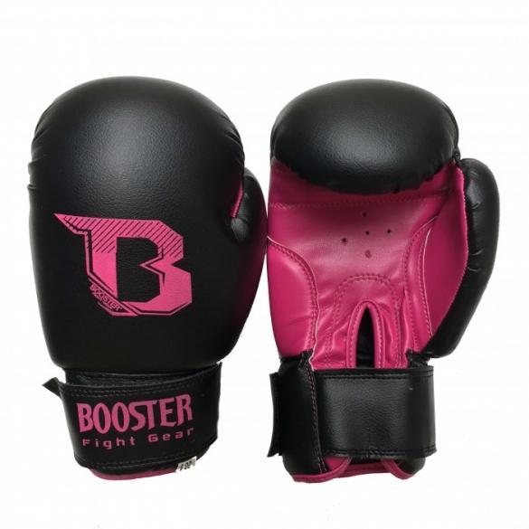 Booster Kids DUO bokshandschoenen neon zwart/roze  BTKIDSDUOZR