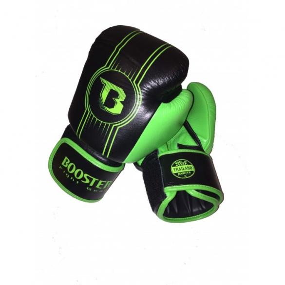 Booster Pro Range BGL V6 leren bokshandschoenen zwart/groen  BGL1-V6-zwartgroen