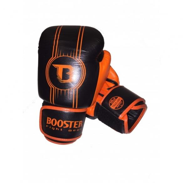 Booster Pro Range BGL V6 leren bokshandschoenen zwart/oranje  BGL1-V6-zwartoranje