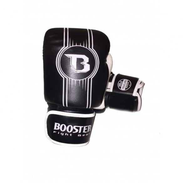 Booster Pro Range BGL V6 leren bokshandschoenen zwart/wit  BGL1-V6-zwartwit