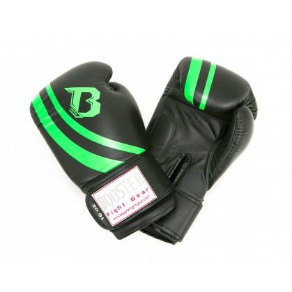Booster Pro Range V2 leren bokshandschoenen zwart/groen  BOOSTERPRBGLV2BG