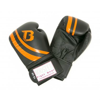 Booster Pro Range V2 leren bokshandschoenen zwart/oranje  BOOSTERPRBGLV2BO