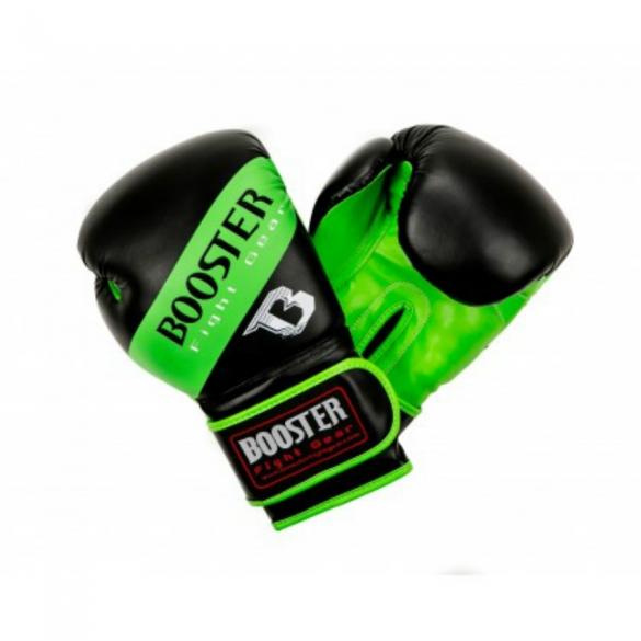 Booster BT Sparring bokshandschoenen neon groen gestreept  BTSPARRINGNGSTR