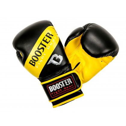 Booster BT Sparring bokshandschoenen neon geel gestreept  BTSPARRINGNYSTR