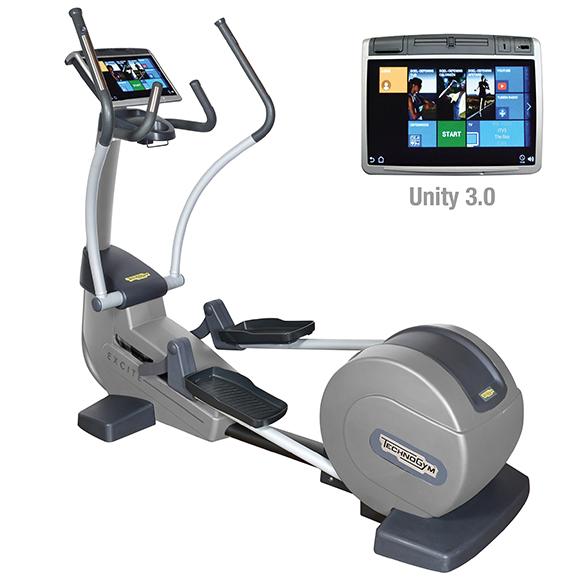 TechnoGym crosstrainer Excite+ Synchro 700 Unity 3.0 zilver gebruikt  BBTGESY700U3ZI