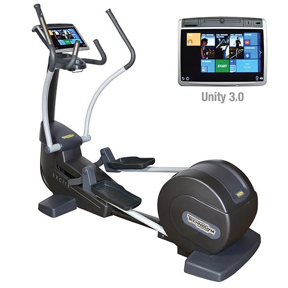 TechnoGym crosstrainer Excite+ Synchro 700 Unity 3.0 zwart gebruikt  BBTGESY700U3ZW